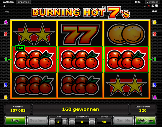 burning hot 7s spielen