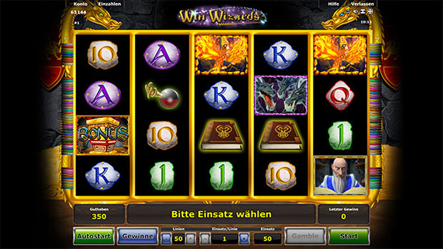 online casino mit book of ra wizards win